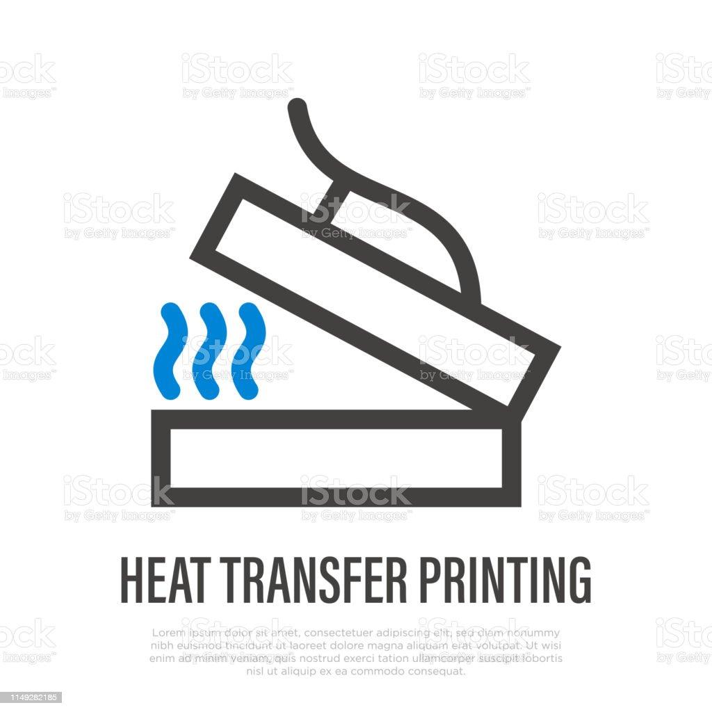 Heat Transfer Printing Thin Line Icon Thermal Printing