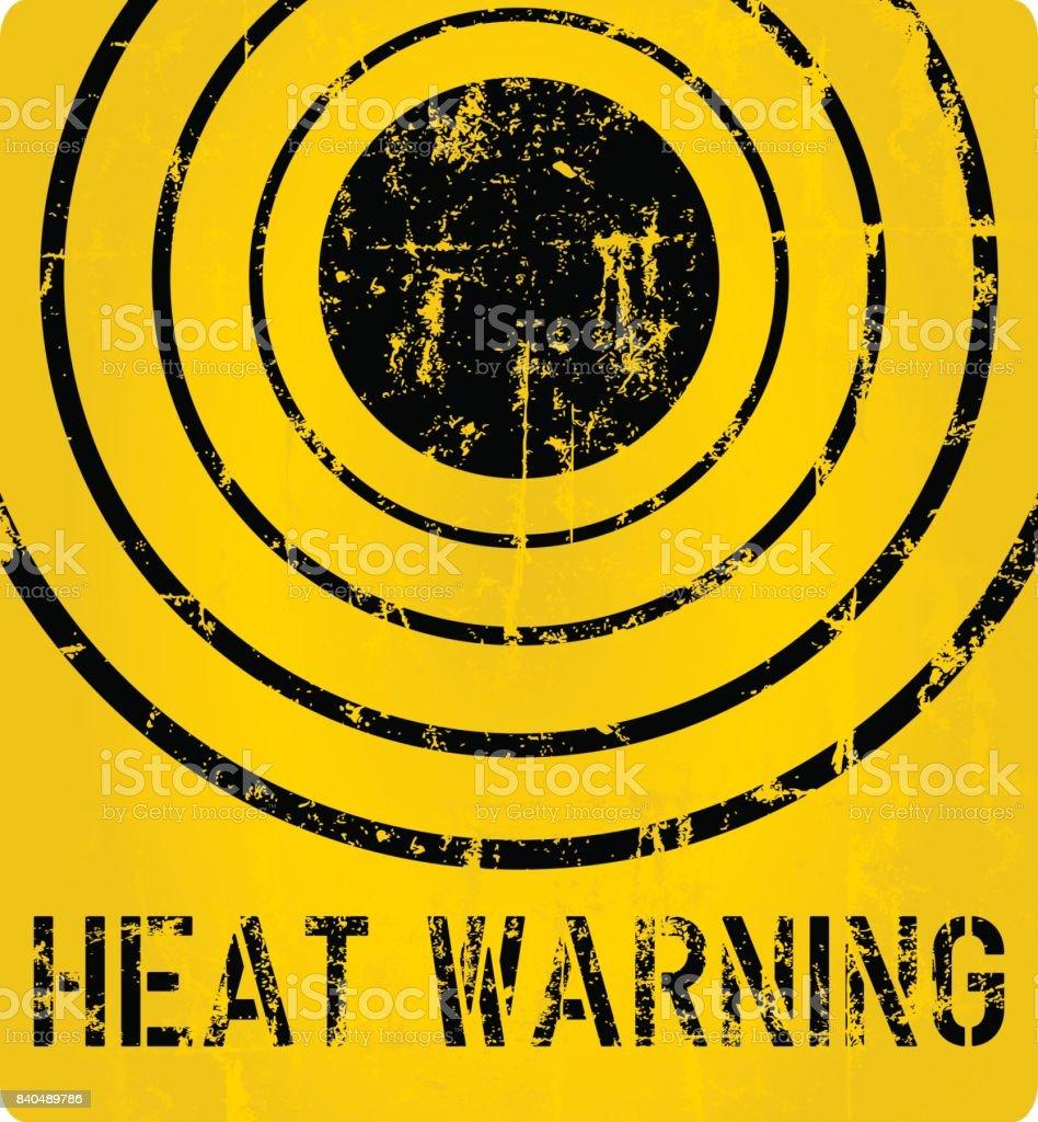 Hitze-Warnschild Lizenzfreies hitzewarnschild stock vektor art und mehr bilder von alarm