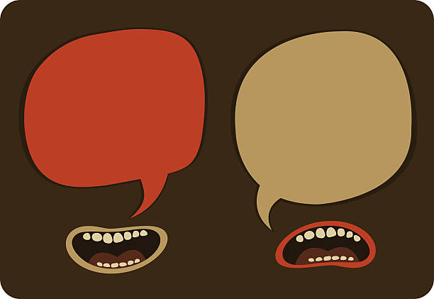 heated conversation - communication problems stock illustrations, clip art, cartoons, & icons