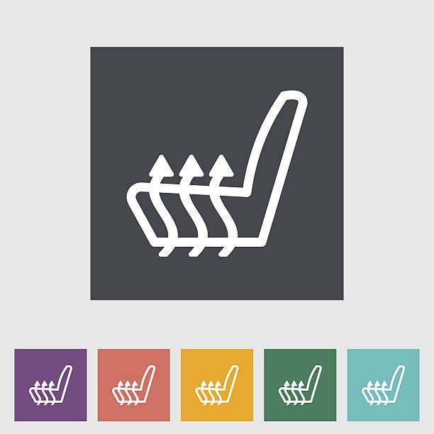 beheizter hoch - fahrzeugsitz stock-grafiken, -clipart, -cartoons und -symbole