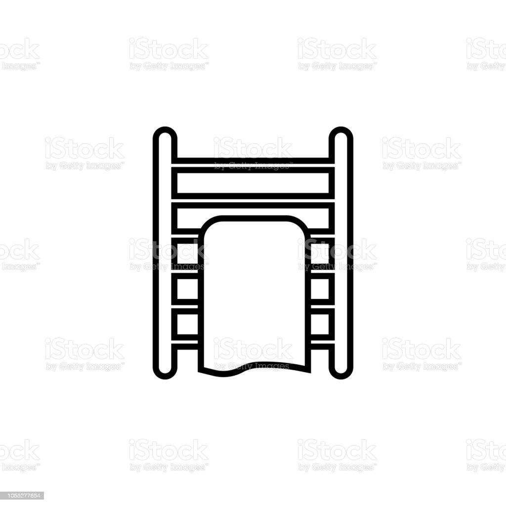Calentadores Para Cuartos De Bano.Ilustracion De Calentador En El Icono De Cuarto De Bano