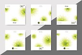Set of minimalistic spa and healthcare design brochures. Creative flyer template