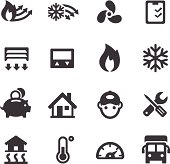 Heating and Cooling Icons - Acme Series