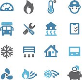 Heating and Cooling Icons - Conc Series