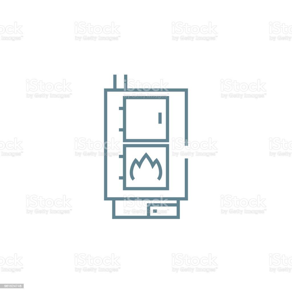 Ilustración de Concepto De Icono Lineal De Caldera De Calefacción ...