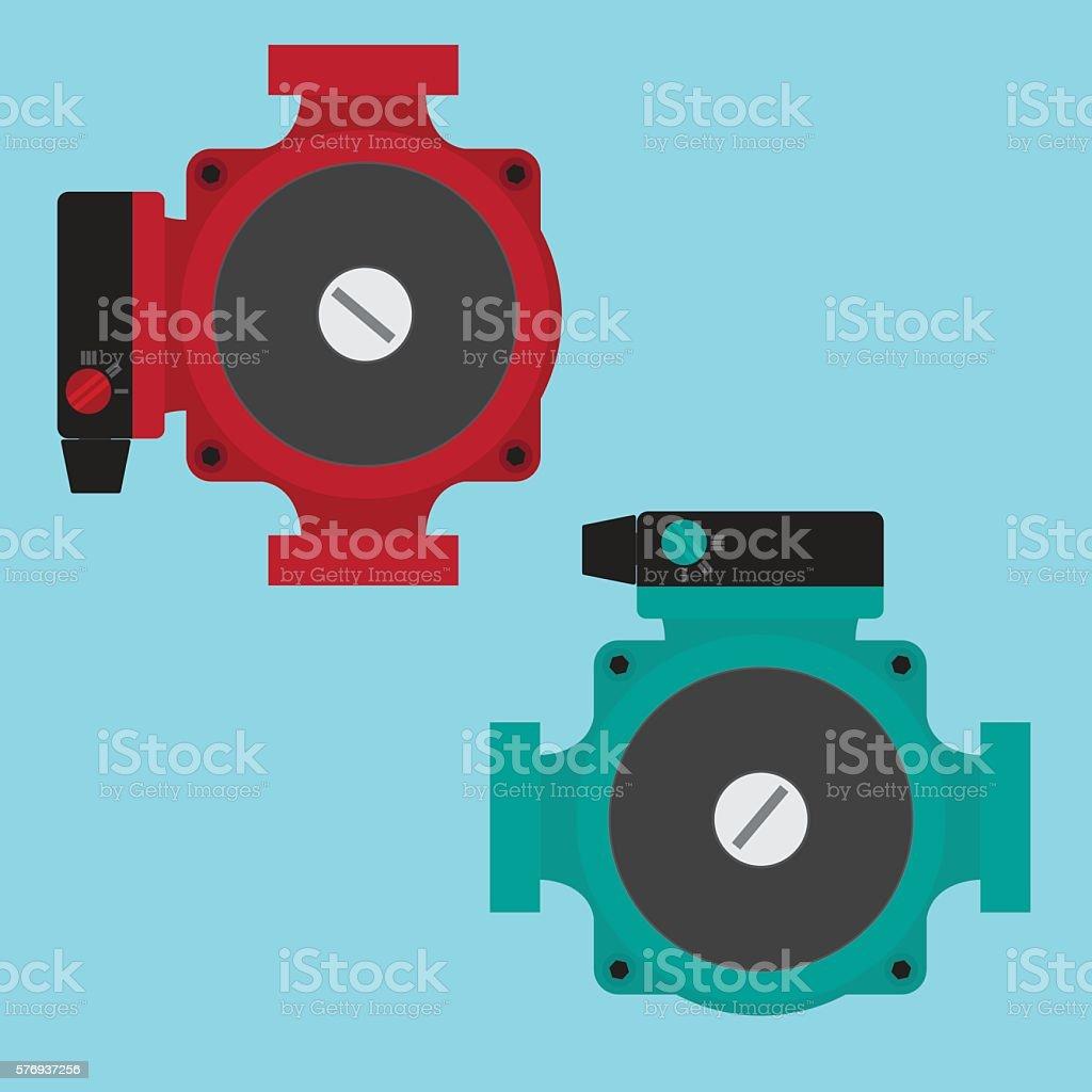 Heating Circulating Pump. vector art illustration