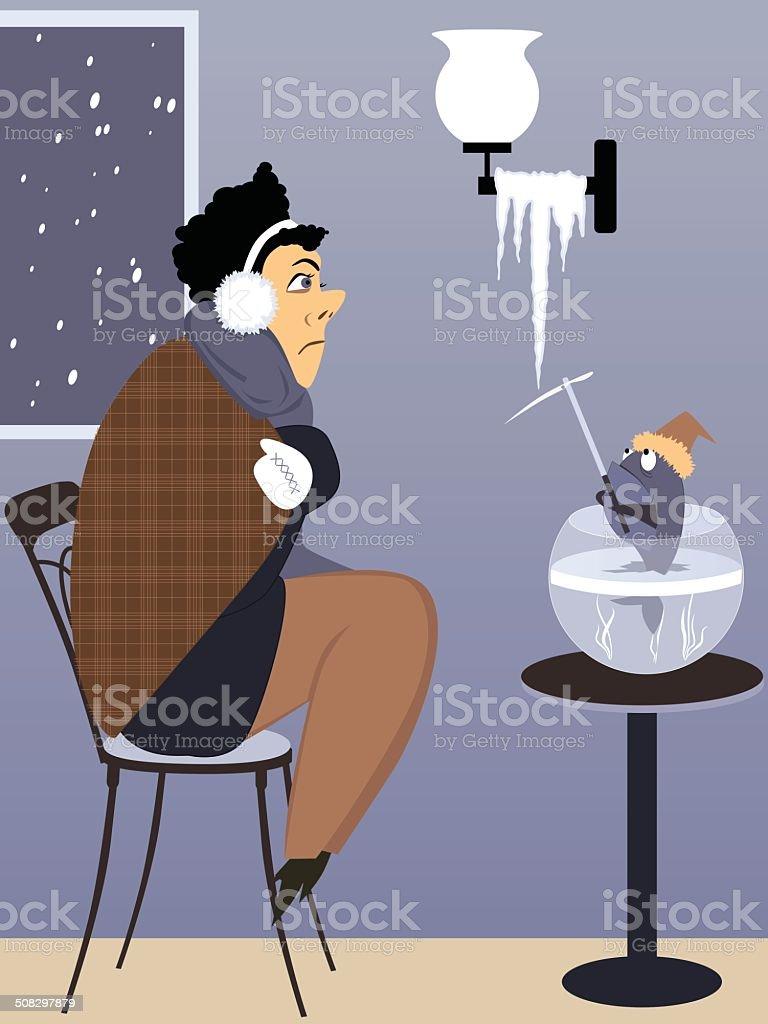 Heating problem vector art illustration