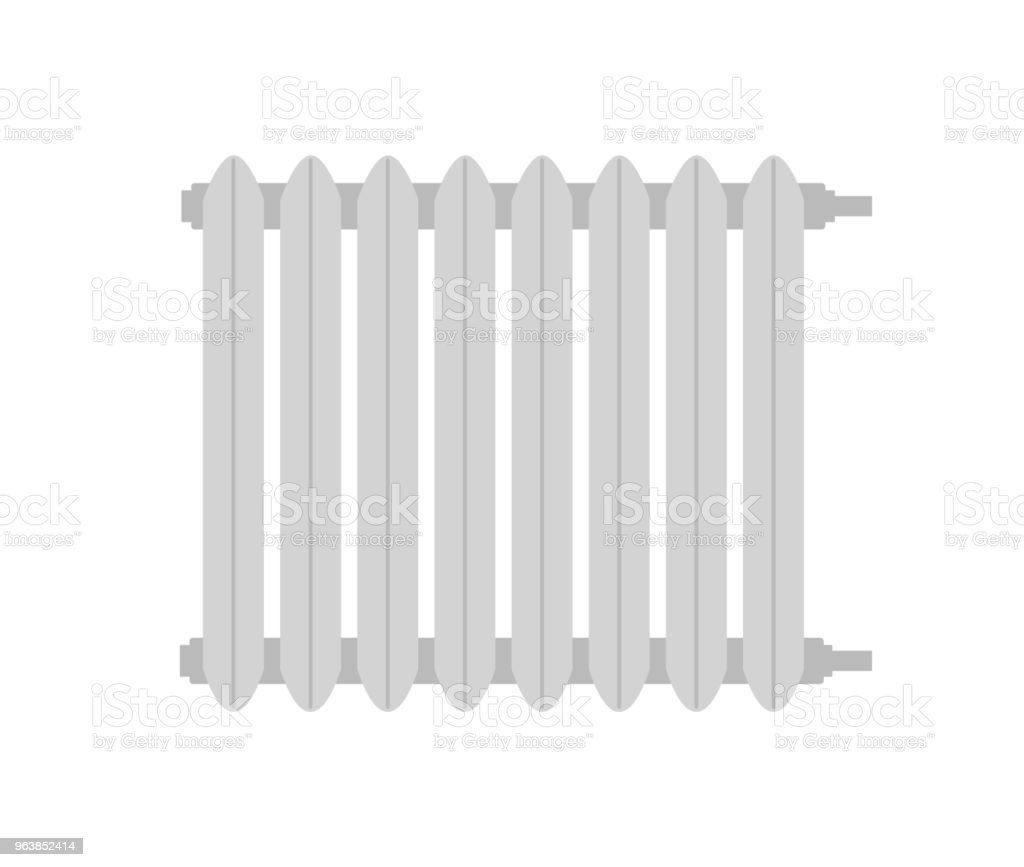 Heating radiator. Isolated on white background. Vector illustration. - Royalty-free Climate stock vector