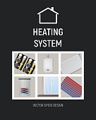 Heating system. Design vector illustration.