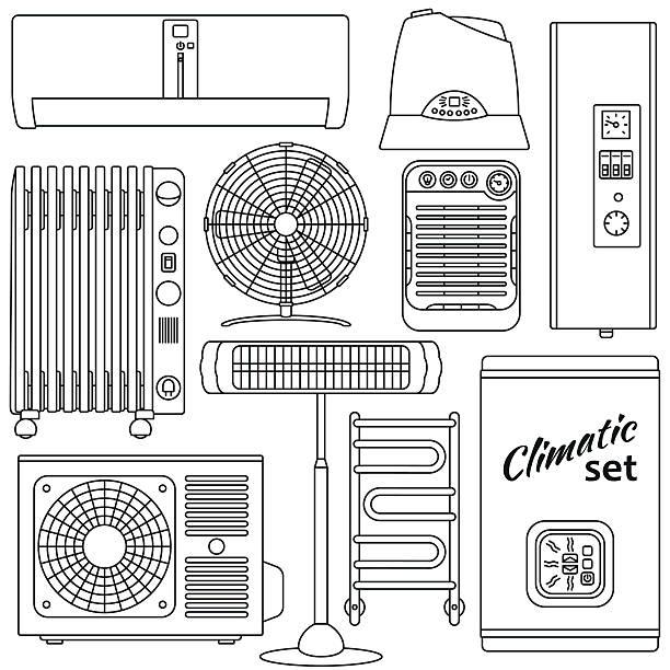 Luftbefeuchter Vektorgrafiken und Illustrationen - iStock