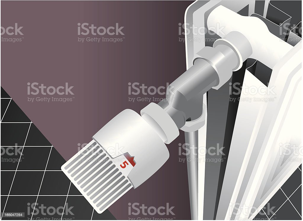 Heating with faucet (close-up) royalty-free stock vector art