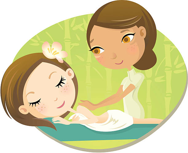 Best Massage Therapist Illustrations, Royalty-Free Vector ...