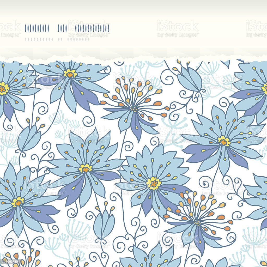 Heavenly flowers horizontal torn seamless pattern background royalty-free heavenly flowers horizontal torn seamless pattern background stock vector art & more images of abstract