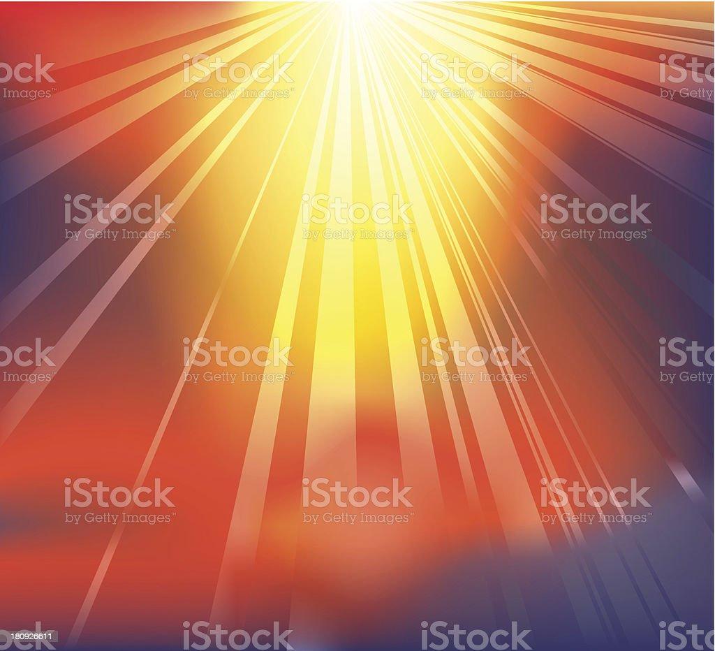 Heavenly light background vector art illustration
