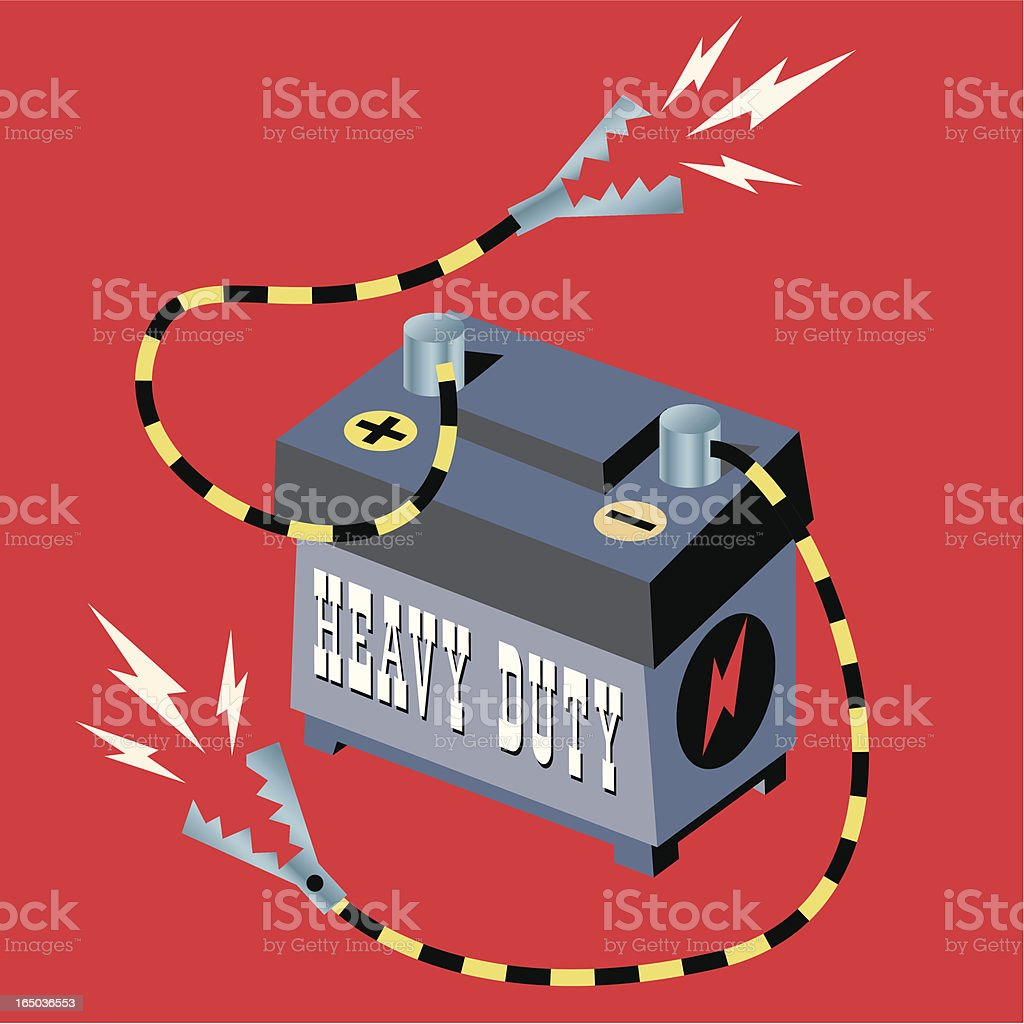 Heavy Duty Battery royalty-free stock vector art