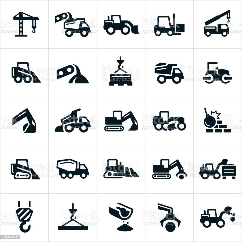 Heavy Equipment Icons