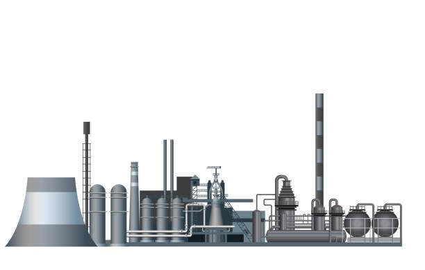 schwerindustrie-fabrik. - metallverarbeitung stock-grafiken, -clipart, -cartoons und -symbole