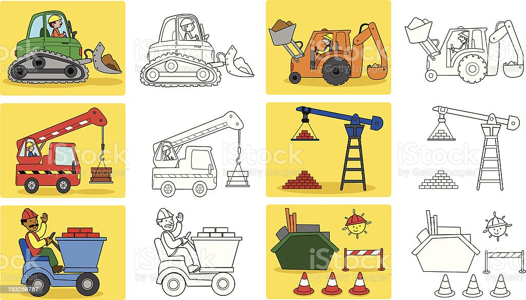 Heavy industry machineries royalty-free stock vector art