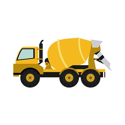 heavy machinery construction icon image