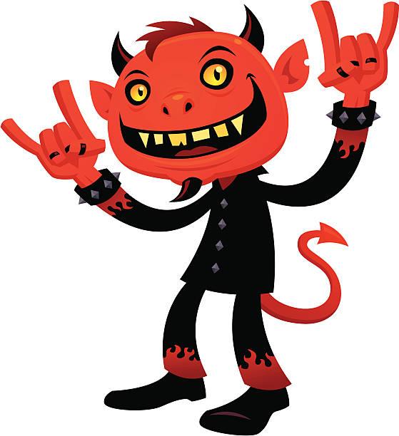 Heavy Metal Devil vector art illustration