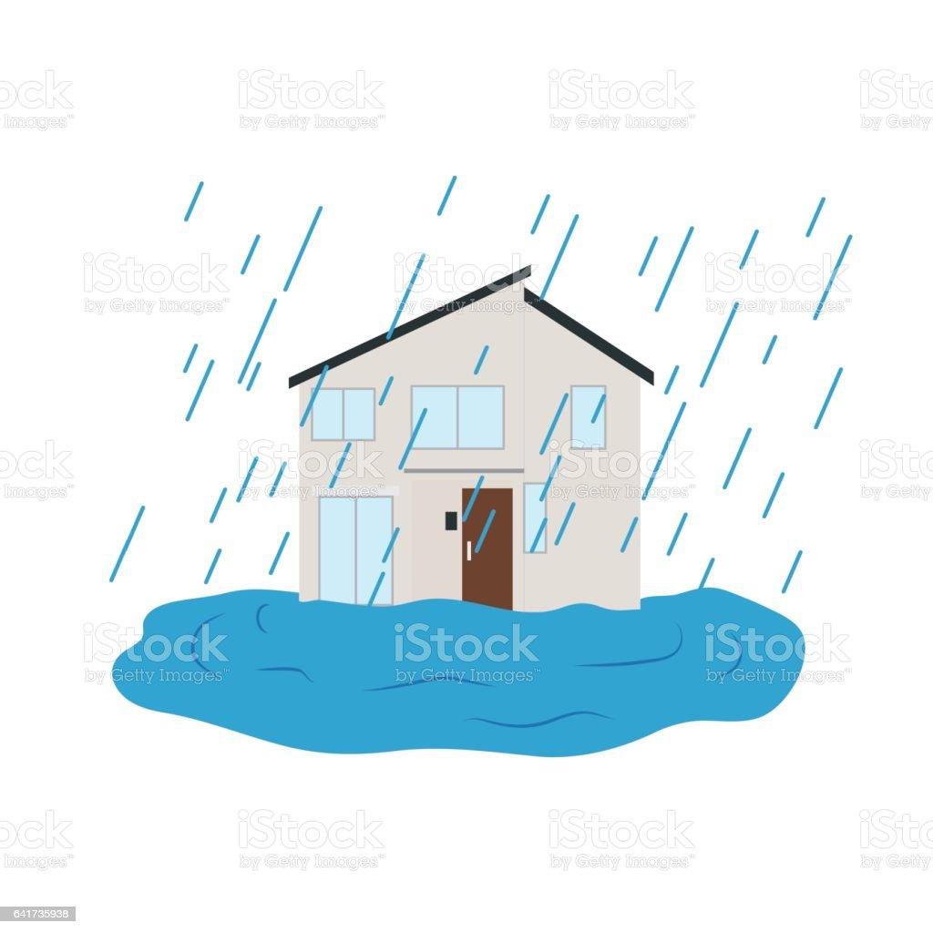 大雨 イラストレーションのベクターアート素材や画像を多数ご用意 Istock