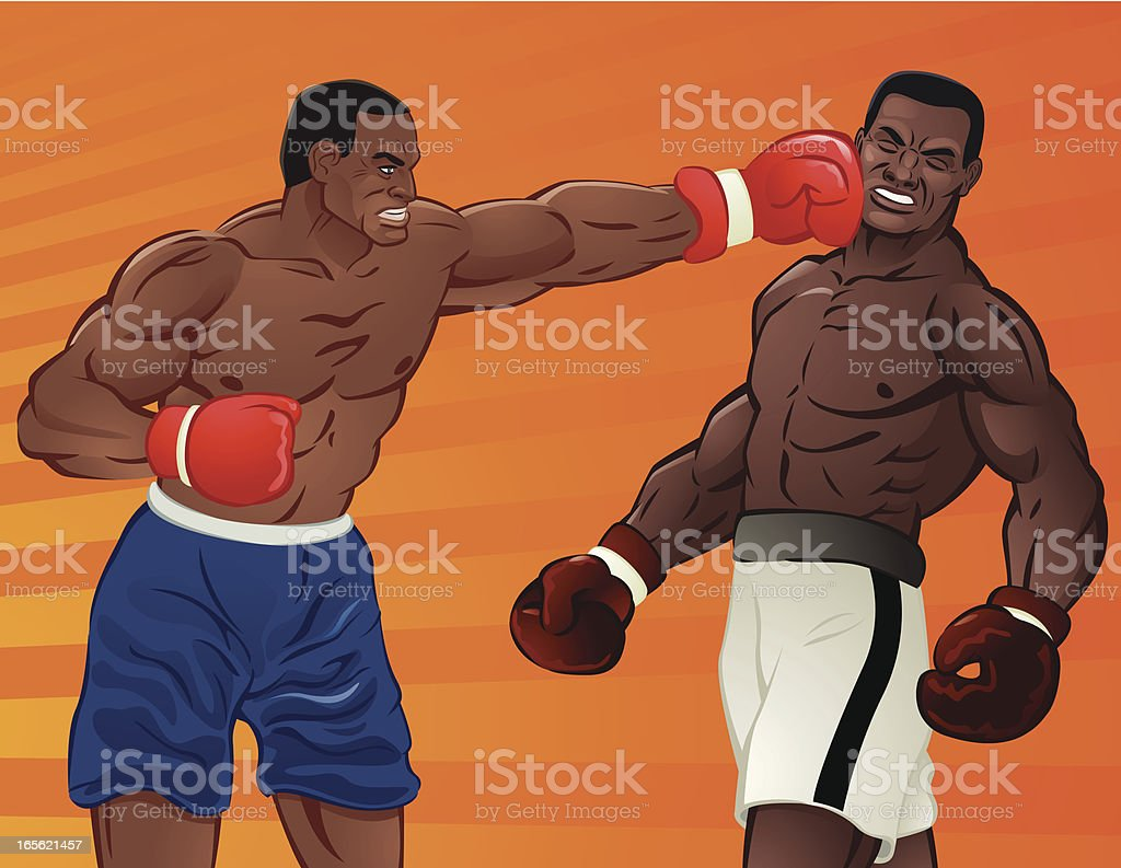 Heavy Weight Boxing vector art illustration