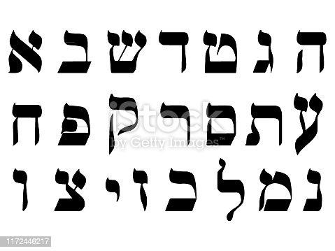 istock Hebrew Alphabet Letters 1172446217