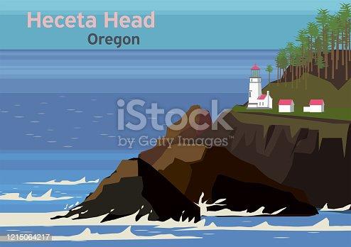istock Heceta Head Light, lighthouse on the Oregon Coast 1215064217