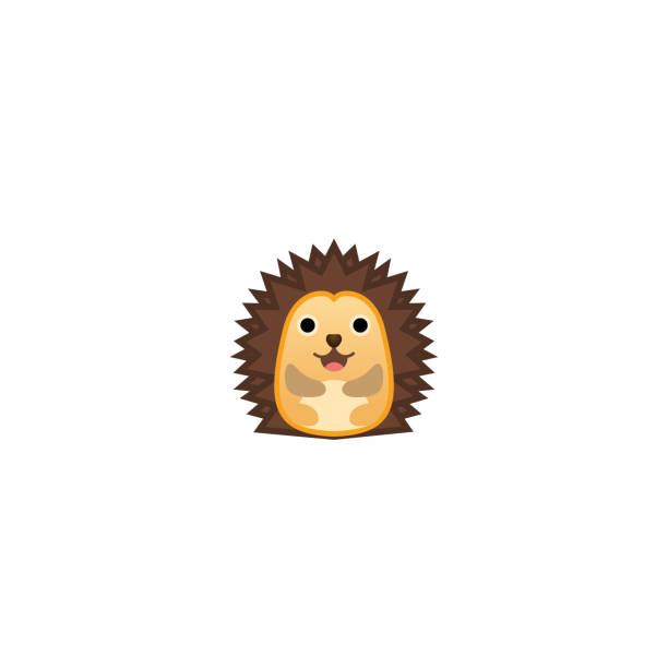 Hedgehog Isolated Realistic Vector Icon. Hedgehog Illustration Emoji, Emoticon, Sticker Icon Hedgehog Isolated Realistic Vector Icon. Hedgehog Illustration Emoji, Emoticon, Sticker Icon hedgehog stock illustrations