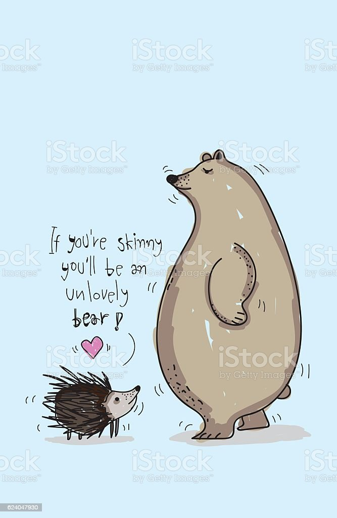 Hedgehog love bear stock vector art 624047930 istock hedgehog love bear royalty free stock vector art voltagebd Images
