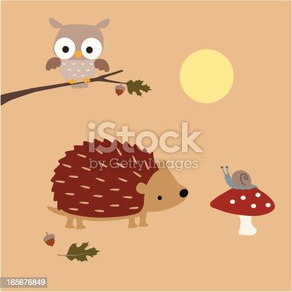 istock Hedgehog Meets A Snail 165676849