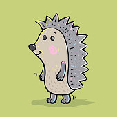 Cheerful hedgehog