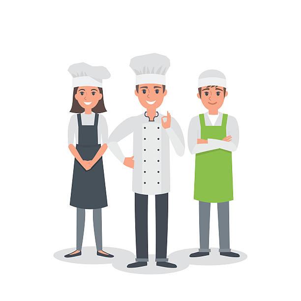 illustrations, cliparts, dessins animés et icônes de сhef équipe - boulanger