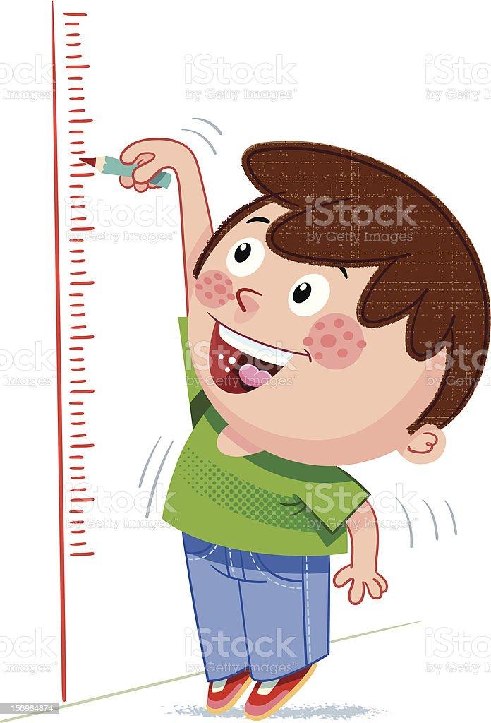 Height measurement vector art illustration