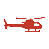 istock helicopter icon on white background. 1042636416