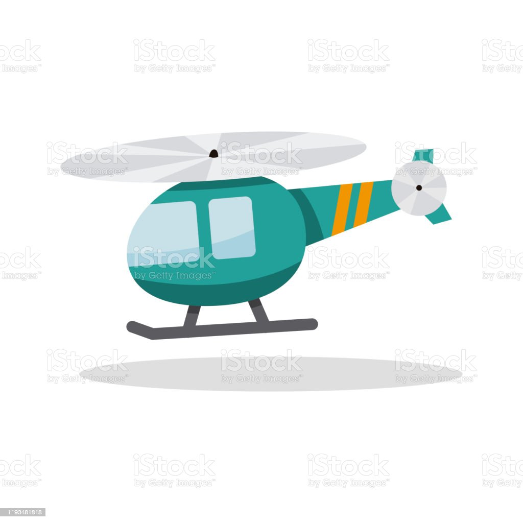 Helicopter In Cartoon Style Stock Illustration Download Image Now Istock
