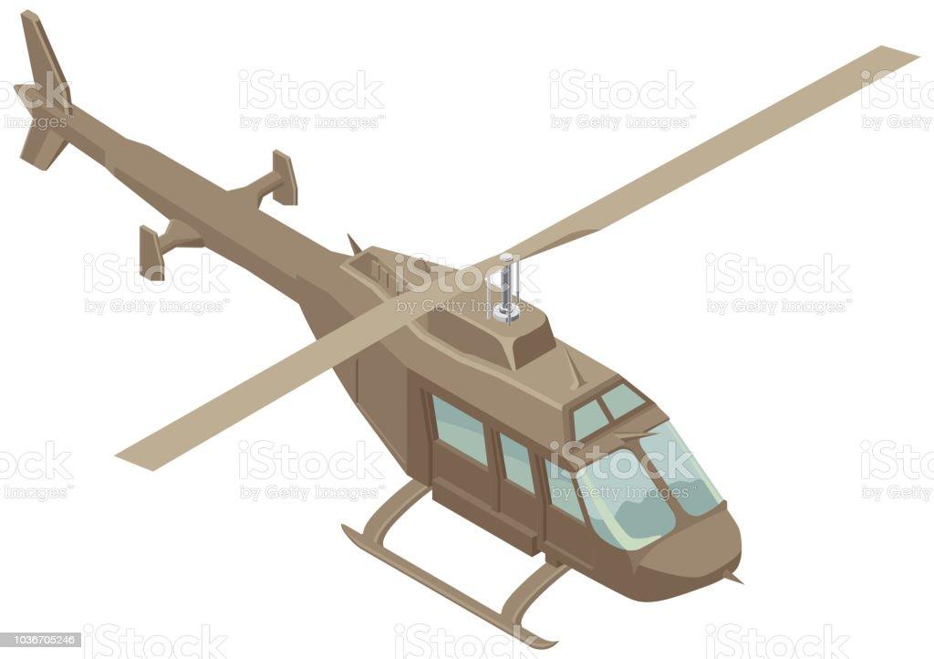 Ilustración de Helicóptero Vector Isométrica y más banco de imágenes ...