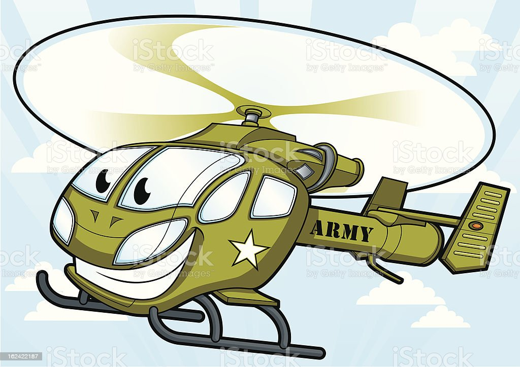 Helicopter Military Army royalty-free stock vector art