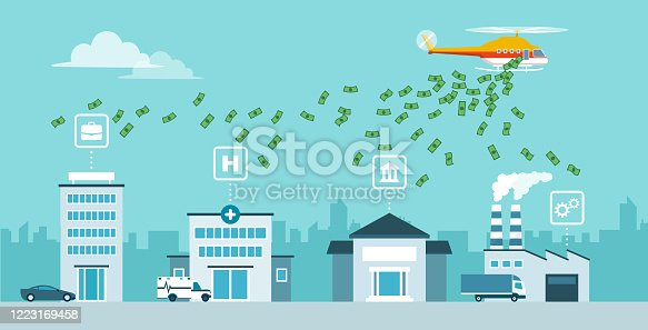 istock Helicopter money policy as response to covid-19 public health crisis 1223169458