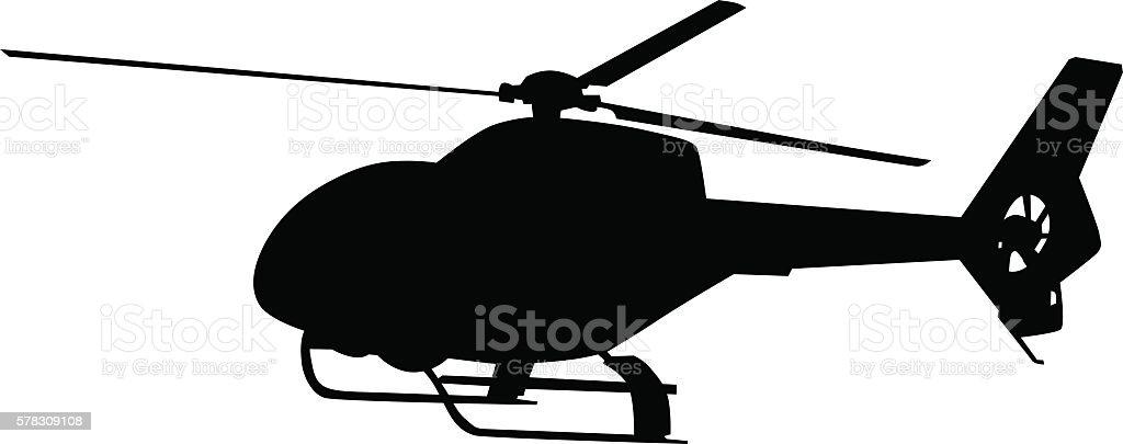 Helicopter on white vector art illustration