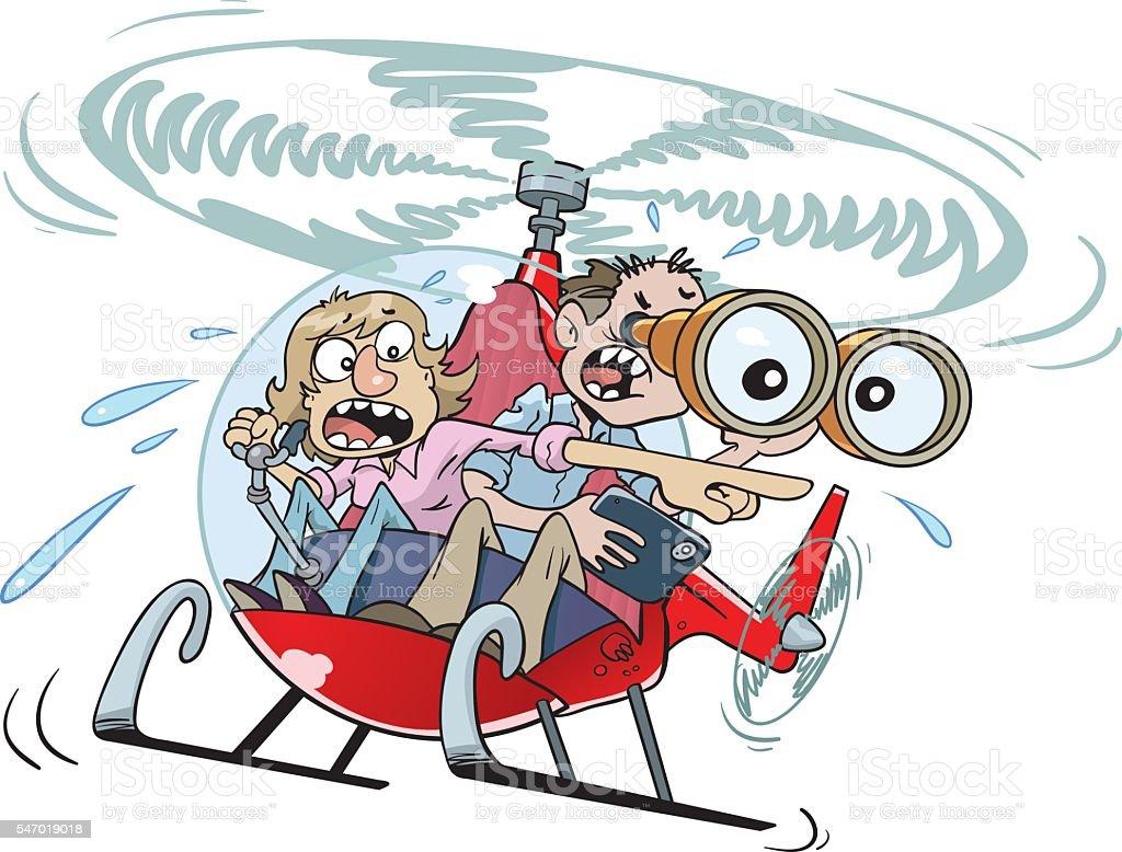 Helicopter Parents vector art illustration