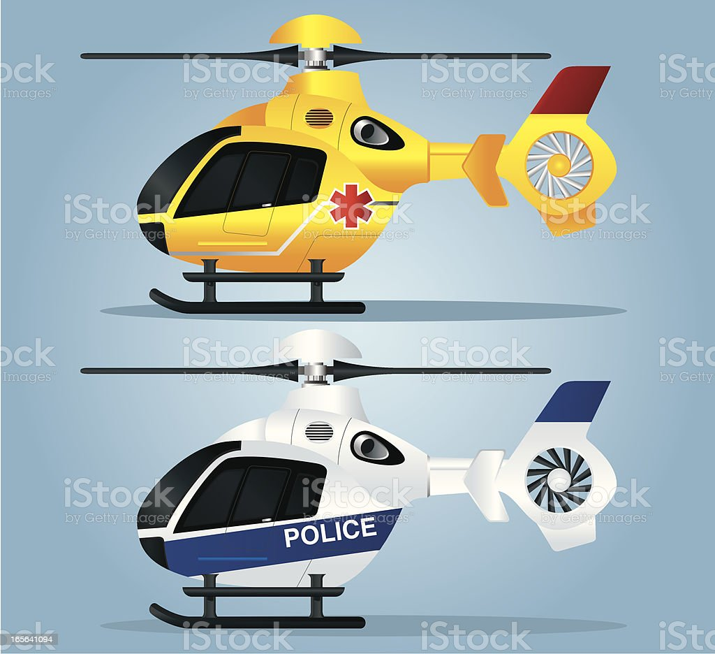 Helicopter Rescue royalty-free stock vector art