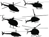 Helicopter Silhouette Collection