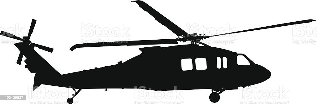 Helicopter Silhouette royalty-free helicopter silhouette stock vector art & more images of air force