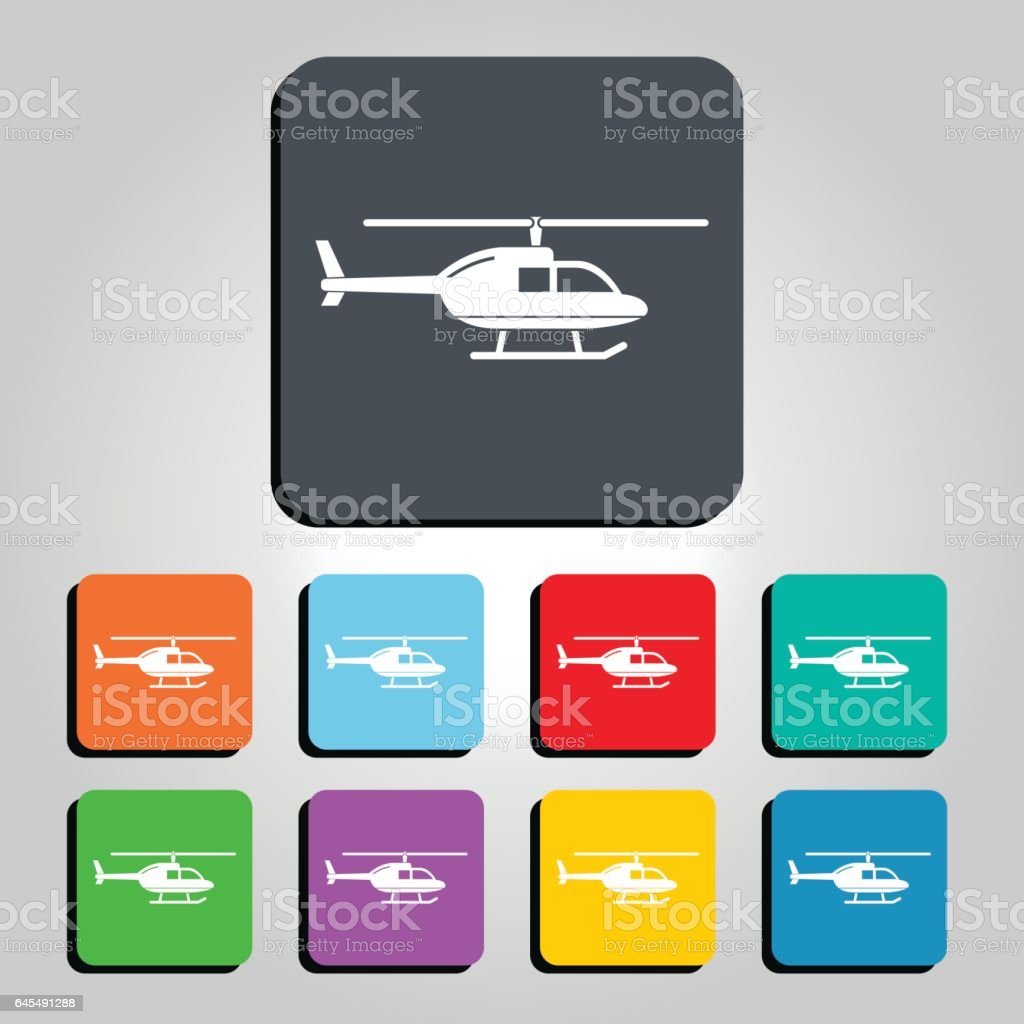 Helicopter Vector Icon Illustration vector art illustration