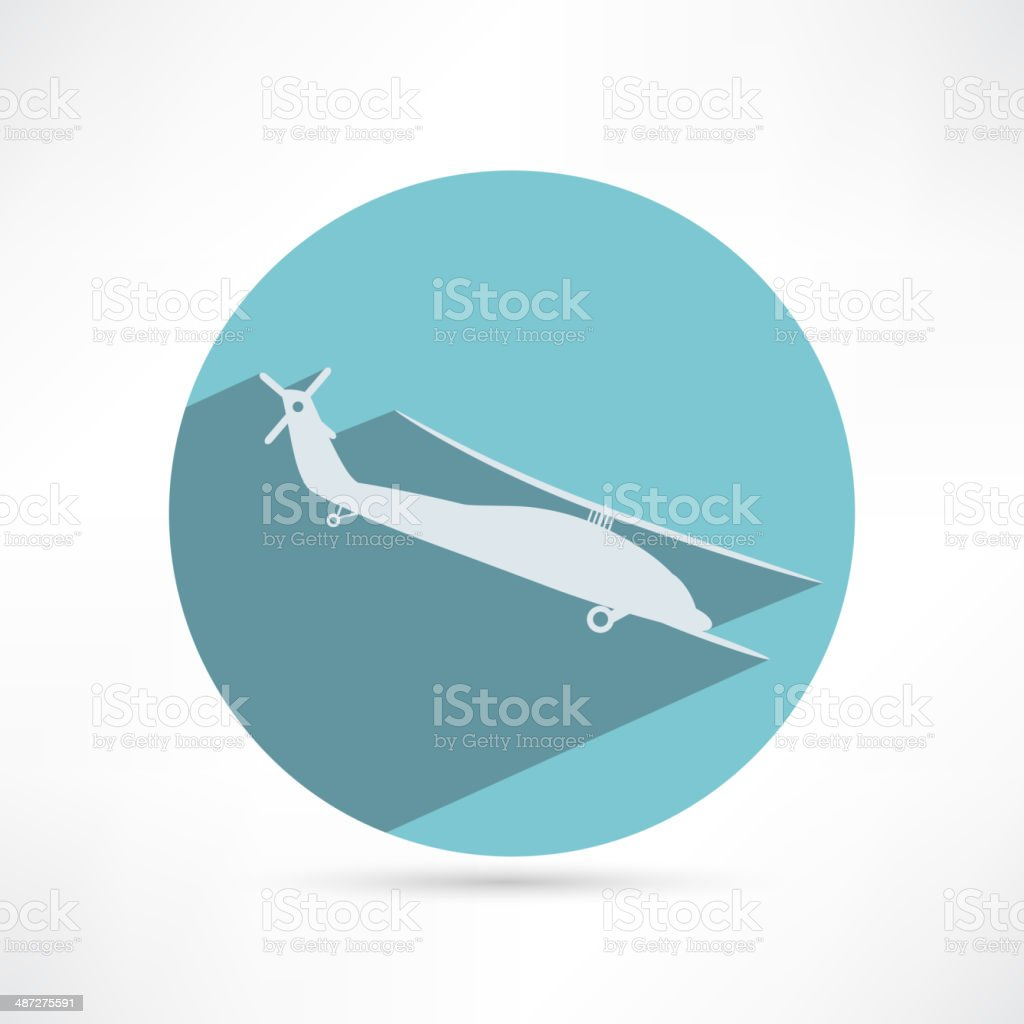 Helicopter - vector illustration vector art illustration