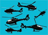 Helicopters or Choppers  ( Vector )