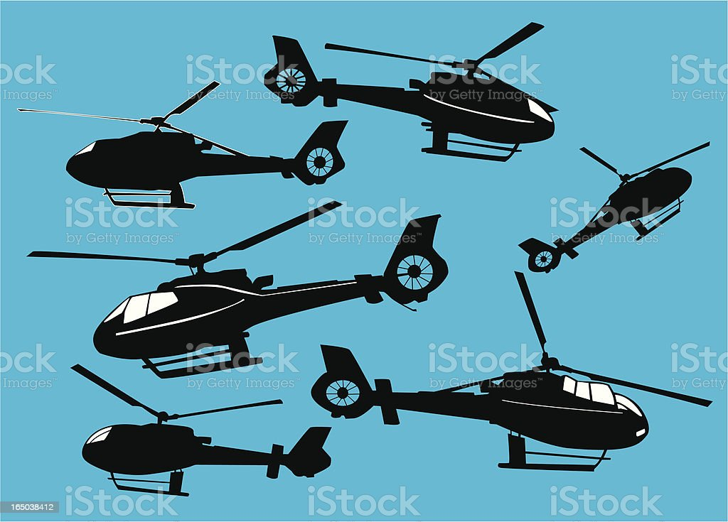 Helicopters or Choppers  ( Vector ) vector art illustration