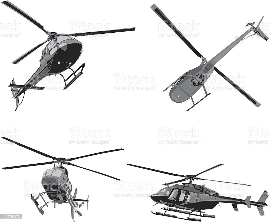 Helicopters royalty-free stock vector art