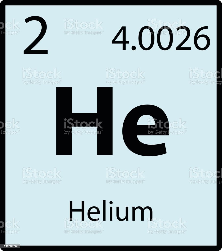 Helium periodic table element color icon on white background vector vector art illustration